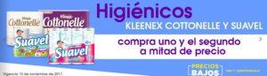 Comercial Mexicana Oferta Higiénico Suavel, Kleenex y Cottonelle