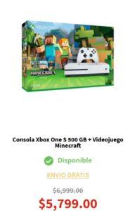 Elektra Oferta Xbox One S + Minecraft