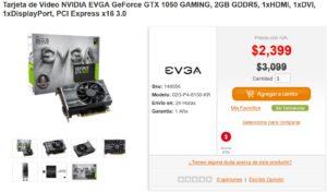 PC en Línea Oferta GTX 1050 EVGA