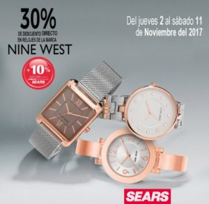 Sears Oferta de Relojes Nine West