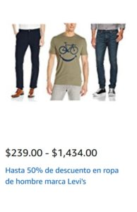 Amazon Oferta Levi's