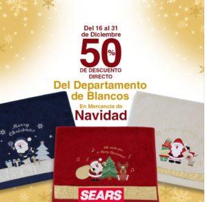 Sears Oferta Mercancía de Navidad Depto. de Blancos