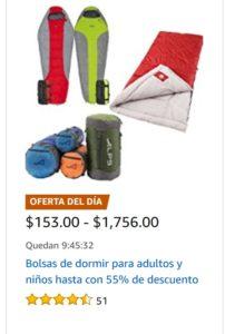 Amazon Oferta Bolsas de Dormir