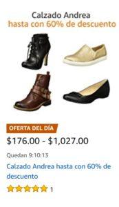 Amazon Oferta Calzado Andrea