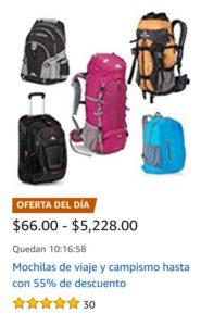 Amazon Oferta de Mochilas de Viajes y Campismo