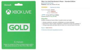 Amazon Oferta Membresí Xbox Live Gold