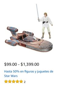 Amazon Oferta Figuras y Juguetes Star Wars