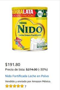 Amazon Oferta Leche Nido 2.2 Kg