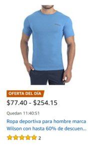 Amazon Oferta Ropa Wilson para Hombre