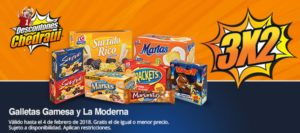 Chedraui Oferta Galletas Gamesa y La Moderna