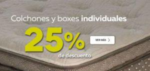 Elektra Oferta Colchones y Boxes Individuales