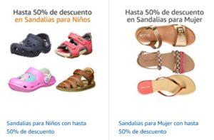 Amazon Oferta Sandalias para Niños y Mujeres
