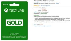 Amazon Oferta Xbox Live