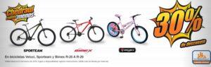 Chedraui Oferta Bicicletas Veloci, Sporteam y Bimex