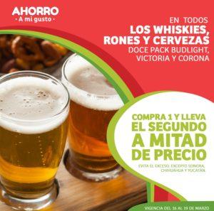 Soriana Oferta Whiskies, Rones y Cervezas