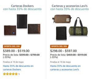 Amazon Oferta Carteras Levi's y Dockers