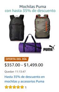 Amazon Oferta de Mochilas y Accesorios Puma