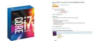 Amazon Oferta Procesador Interl i7 6700K