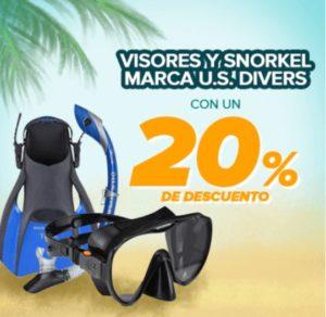 Famsa Oferta Visores y Snokerls US Divers