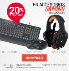 RadioShack Oferta Accesorios Gaming Seleccionados