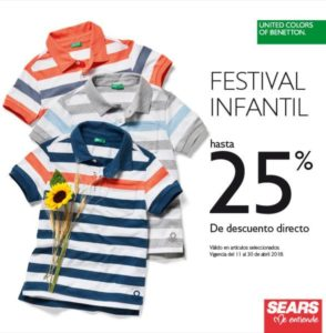 Sears Oferta Benetton Infantil