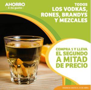 Soriana Oferta, Vodkas, Rones, Brandys y Mezcales