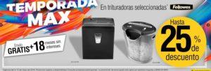 OfficeMax Oferta Trituradoras Fellowes Seleccionadas
