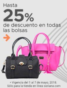 Soriana Oferta Bolsas para Dama