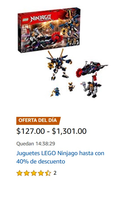 Amazon Oferta Sets Lego Ninjago