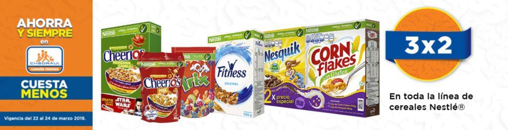 Chedraui Oferta Cereales Nestle Marzo 23