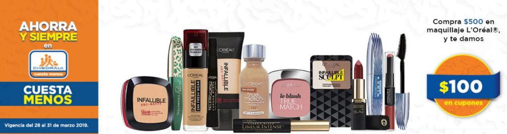 Chedraui Oferta Maquillaje L'Oréal