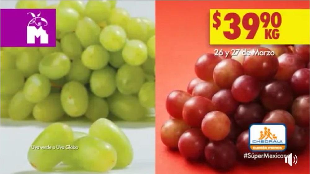 Chedraui Ofertas Frutas y Verduras Marzo 26