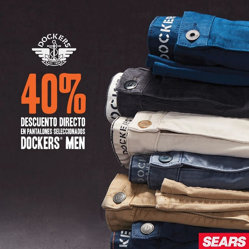Ofertas En Internet Sears 40 De Descuento En Pantalones Dockers