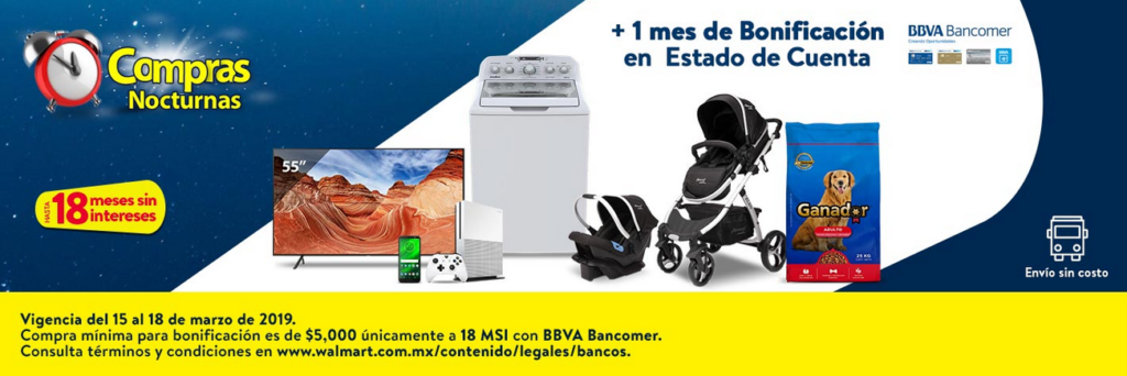 Walmart Promoción BBVA Bancomer