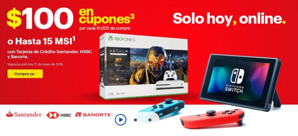 Best Buy Promoción Cupones Banorte, HSBC y Santander Mayo 17