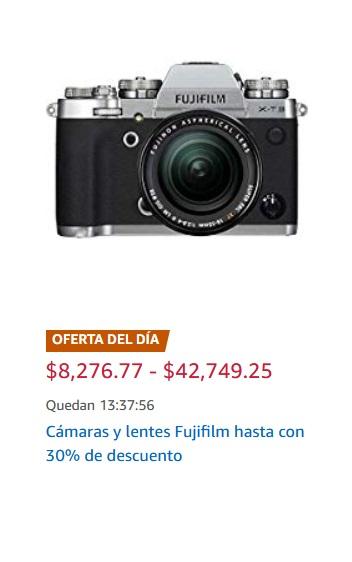 Amazon Oferta Cámaras y Lentes Fujifilm