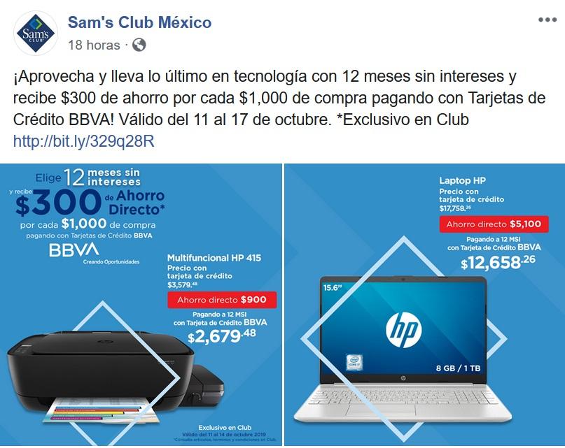 Sam's Club Promoción BBVA Bancomer