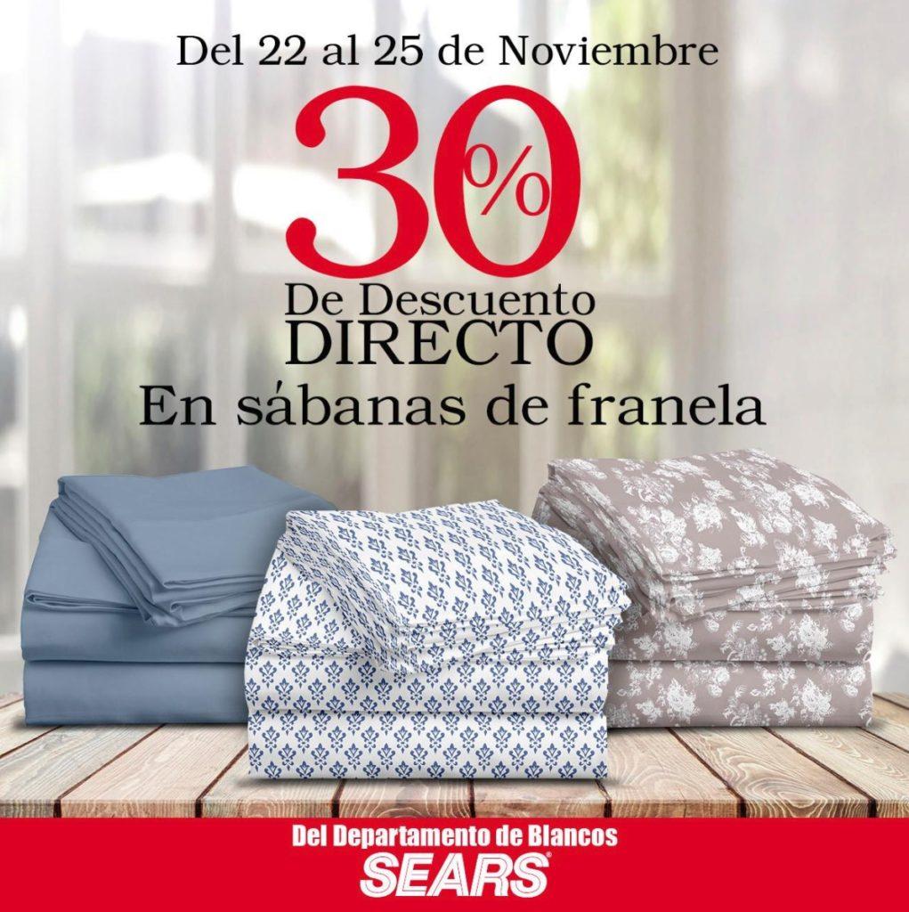 Sears Oferta Sabanas de Franela