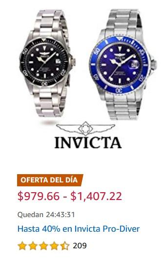 Amazon Oferta Relojes Invicta Pro-Diver