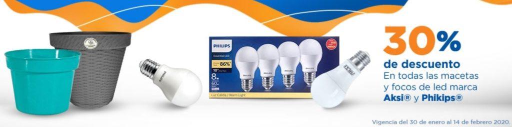 Chedraui Oferta Focos LED y Macetas