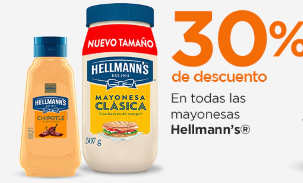 Chedraui Oferta Mayonesas Hellmann's