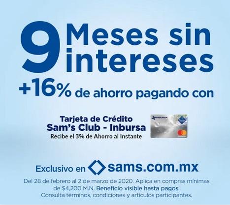 Sam's Club Promoción Sam's Club-Inbursa