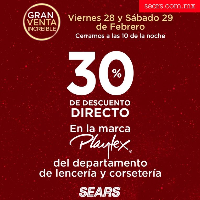 Sears Oferta Playtex