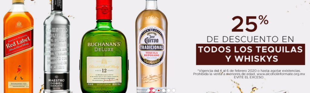 Soriana Oferta Tequilas y Whiskys