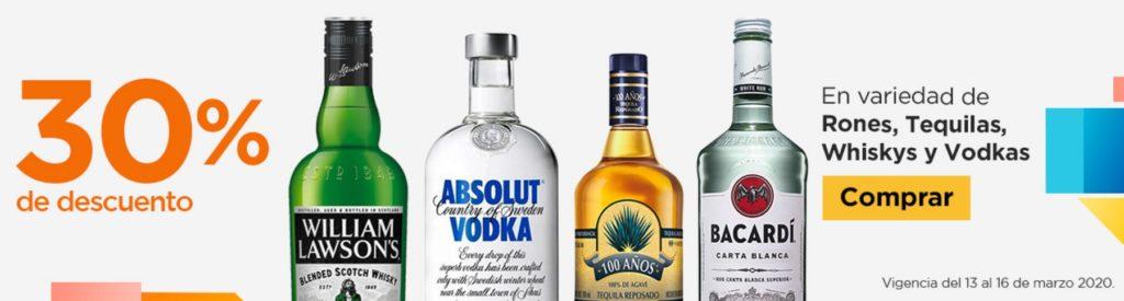 Chedraui Oferta Rones Tequilas, Whiskys y Vodkas