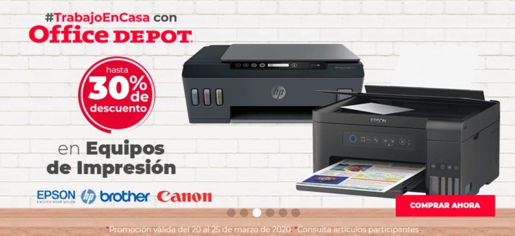 Office Depot Oferta Equipos de Impresión Epson, Brother y Canon