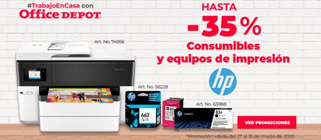 Office Depot Oferta Consumibles y Equipos de Impresión HP