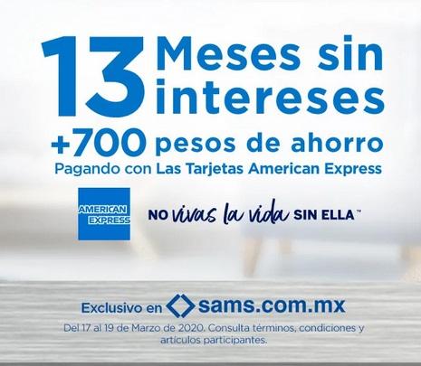 Sam's Club Promoción American Express