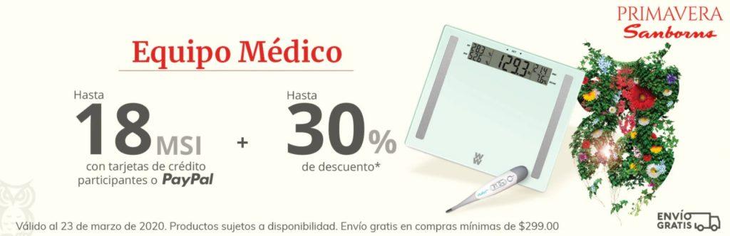 Sanborns Oferta Equipo Médico