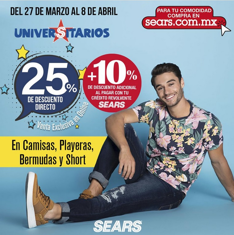 Sears Oferta Camisas, Playeras, Bermudas y Shorts